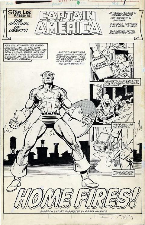 Marvel Fanfare issue 18 splash by Frank Miller and Joe Rubinstein.  Source.