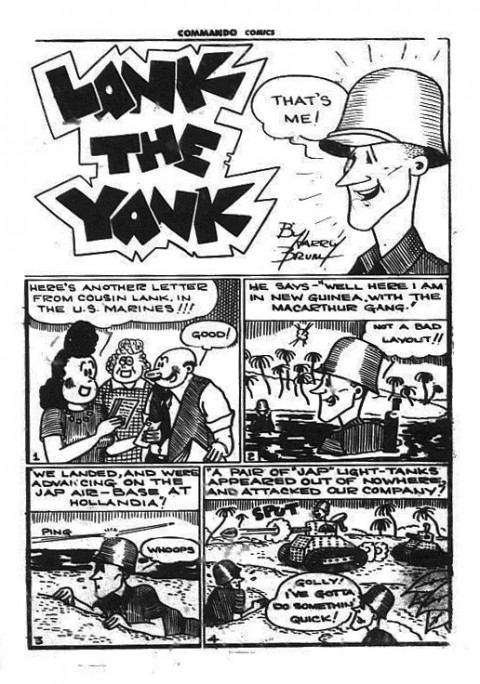 "first ""Lank"" splash from Commando Comics No. 12"