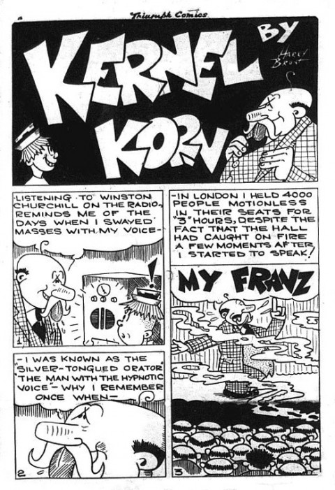 First Kernel Korn story splash from Triumph Comics No. 17