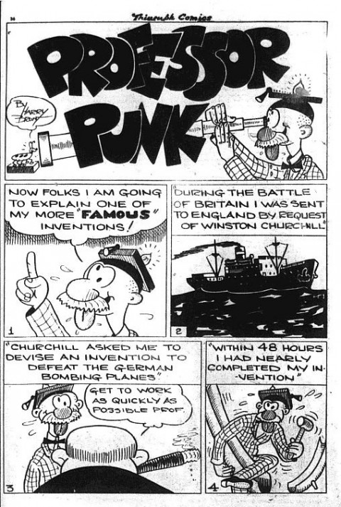 The first Professor Punk story splash from Triumph Comics No. 18