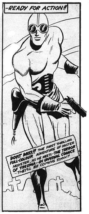 The last Doc Stearne panel from the last issue of Triumph Comics No 31