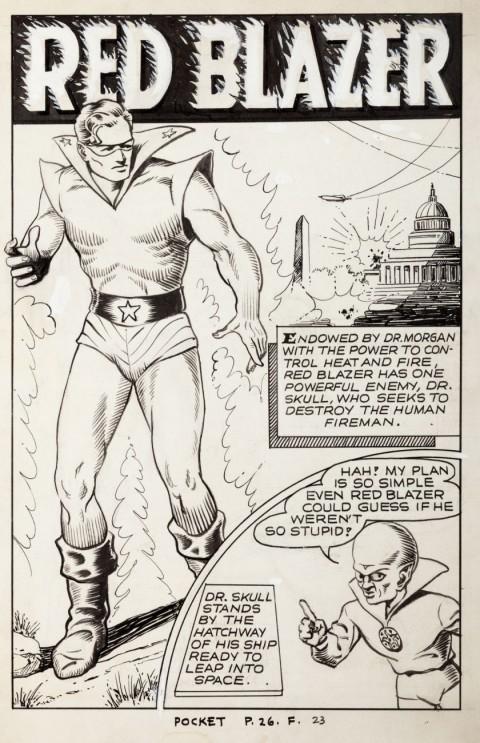 Pocket Comics issue 3 splash by Al Avison and Bob Powell.  Source.