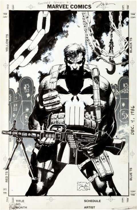 Punisher Armory issue 2 by Jim Lee.  Source.