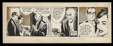 Rip Kirby 10-10-1960 daily by John Prentice.  Source.
