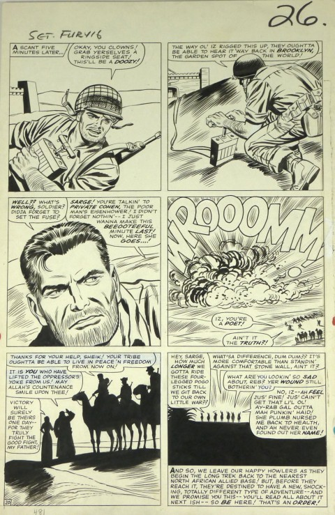 Sgt. Fury issue 16 page 20 by Dick Ayers and Frank Giacoia.  Source.