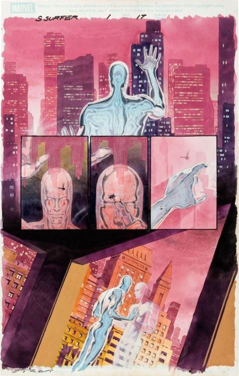 Silver Surfer: Requiem issue 1 Page 17 by Esad Ribic.  Source.