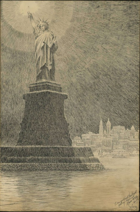 Statue Of Liberty by Winsor McCay.  Source.