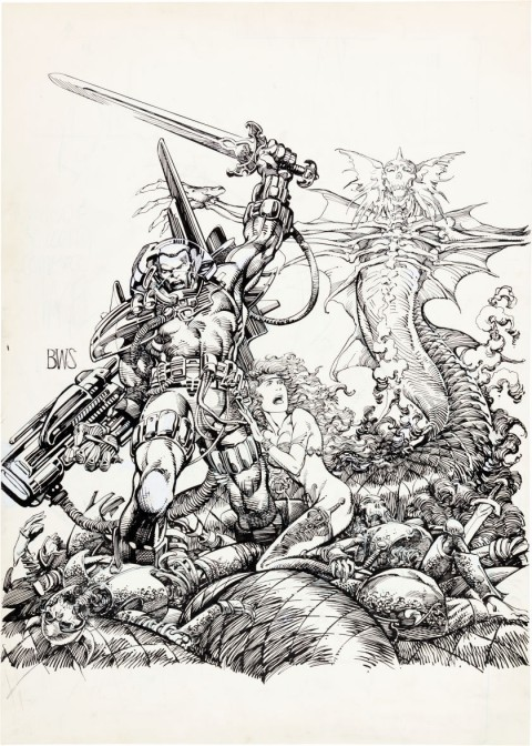 Stormwatch by Barry Windsor-Smith.  Source.