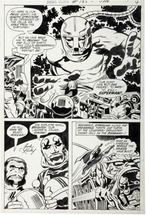 Superman's Pal, Jimmy Olsen issue 135 page 4 by Jack Kirby and Vince Colletta.  Source.