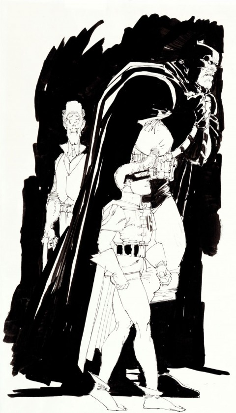 The Dark Knight Returns issue 4 Preliminary Study Illustration by Frank Miller.  Source.