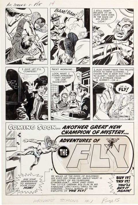 The Double Life of Private Strong issue 1 The Hideout page 2 by Jack Kirby and Joe Simon.  Source.