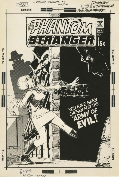 The Phantom Stranger issue 11 cover by Neal Adams.  Source.