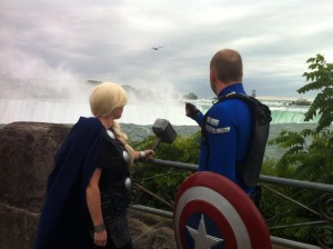 Thor and Captain America Niagara Falls