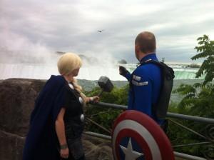 Thor and Captain America Niagara Falls
