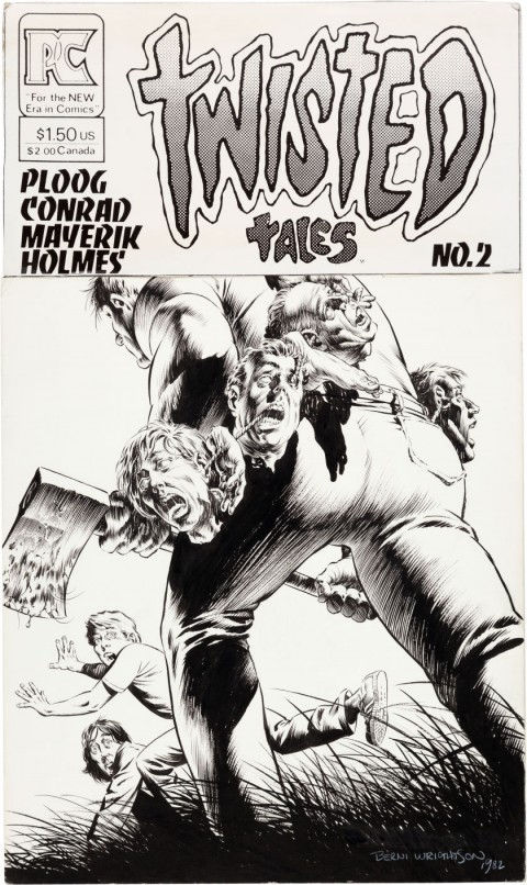Twisted Tales issue 2 cover by Bernie Wrightson.  Source.