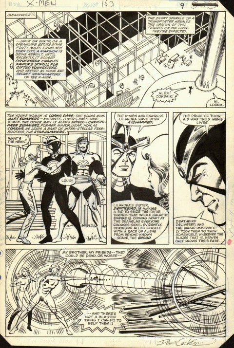 Uncanny X-Men issue 163 page 9 by Dave Cockrum and Bob Wiacek.  Source.