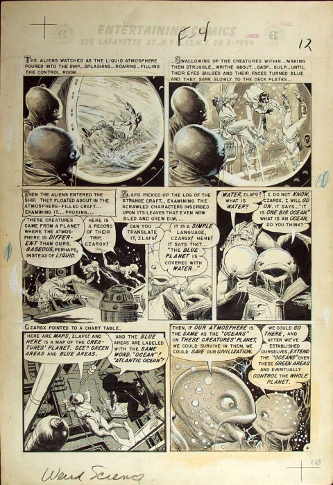 Weird Science-Fantasy issue 23 page 4 by Al Williamson.  Source.