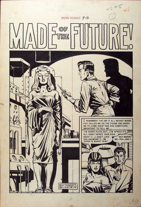 Weird Science issue 5 splash by Al Feldstein.  Source.