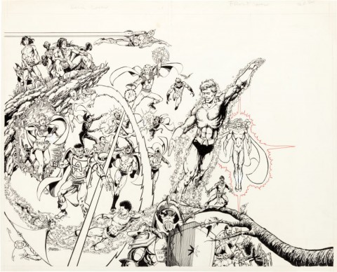 Who's Who: The Definitive Directory of the DC Universe issue 1 cover by George Perez.  Source.