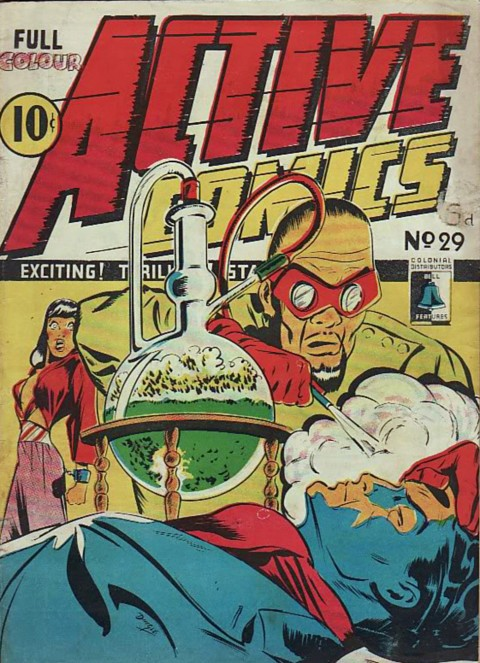 This cover for Active Comics No. 29 which looks toDingle Triumph Comics cover
