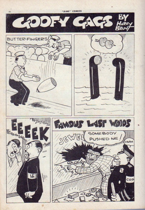 Brunt's Goofy Gags from Dime Comics No. 16