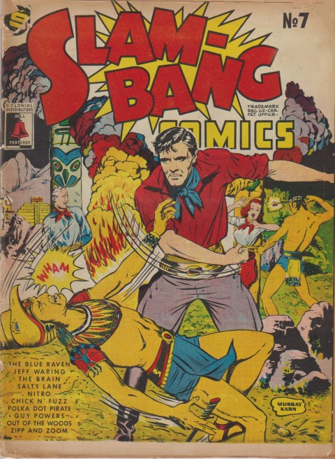 Slam-Bang Comics No. 7 cover by Murray Karn