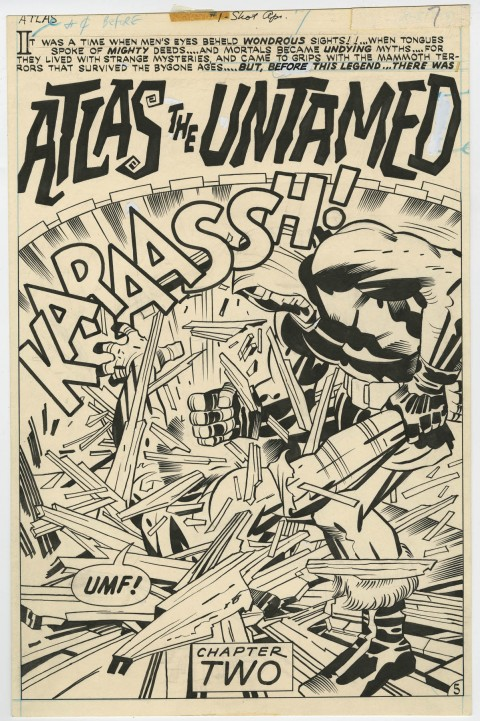 1st Issue Special issue 1 page 5 by Jack Kirby and D. Bruce Berry.  Source.