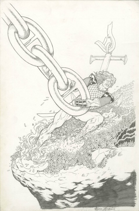 Aquaman Sword Of Atlantis issue 57 cover by Kevin Maguire.  Source.