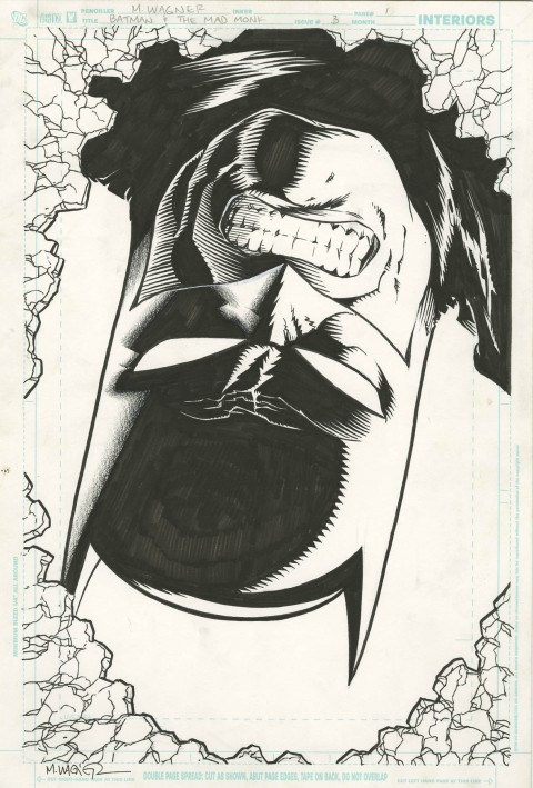 Batman And The Mad Monk issue 3 splash by Matt Wagner.  Source.