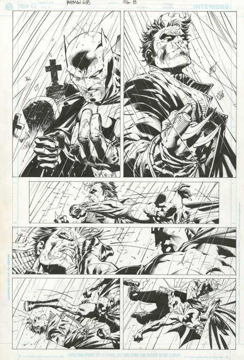 Batman issue 618 page 8 by Jim Lee and Scott Williams.  Source.