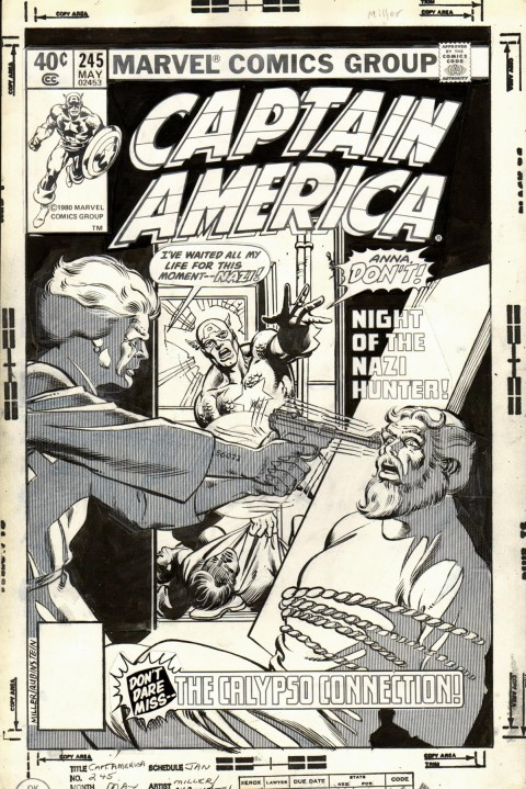 Captain America issue 245 cover by Frank Miller and Joe Rubinstein.  Source.