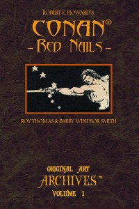 Conan Red Nails Original Art Archives Vol 1 cover