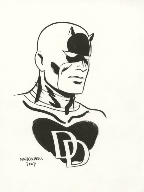 Daredevil by David Mazzucchelli.  Source.