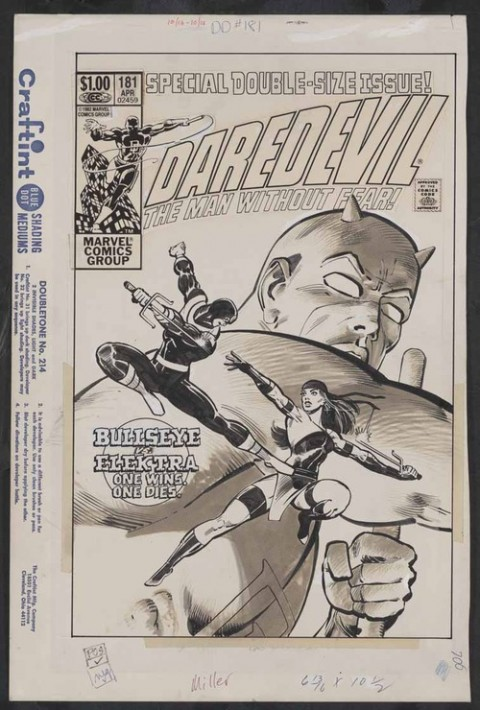 Daredevil issue 181 cover by Frank Miller and Klaus Janson