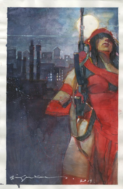 Elektra by Bill Sienkiewicz.  Source.