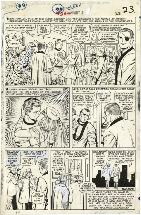 Fantastic Four Annual issue 3 page 23 by Jack Kirby and Vince Colletta.  Source.