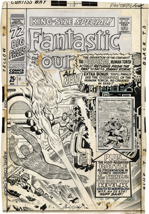 Fantastic Four Annual issue 4 cover by Jack Kirby and Joe Sinnott.  Source.