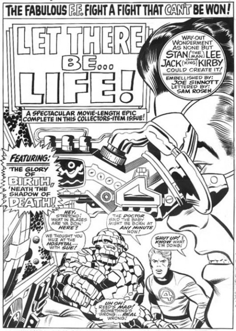 Fantastic Four Annual issue 6 splash by Jack Kirby and Joe Sinnott.  Source.