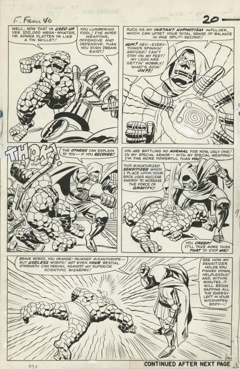 Fantastic Four issue 40 page 16 by Jack Kirby and Vince Colletta.  Source.