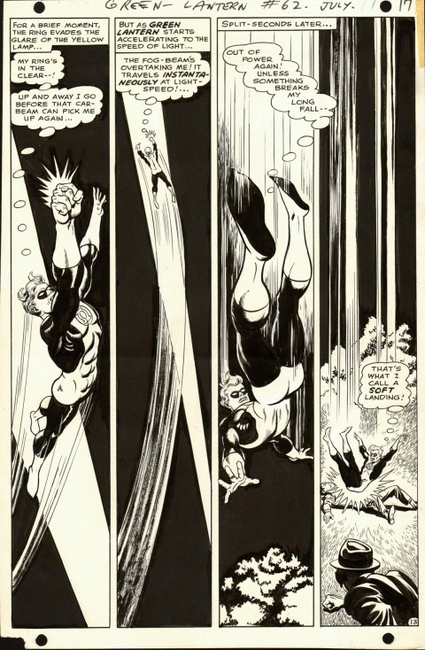 Green Lantern issue 62 page 13 by Jack Sparling and Sid Greene.  Source.