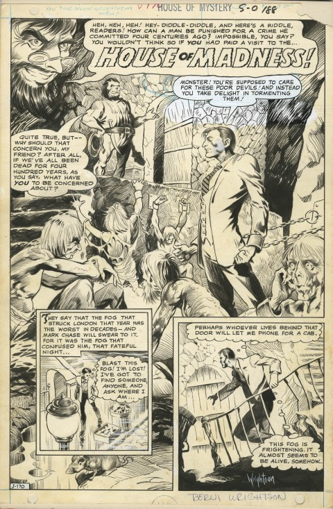 House Of Mystery issue 188 splash by Bernie Wrightson.  Source.
