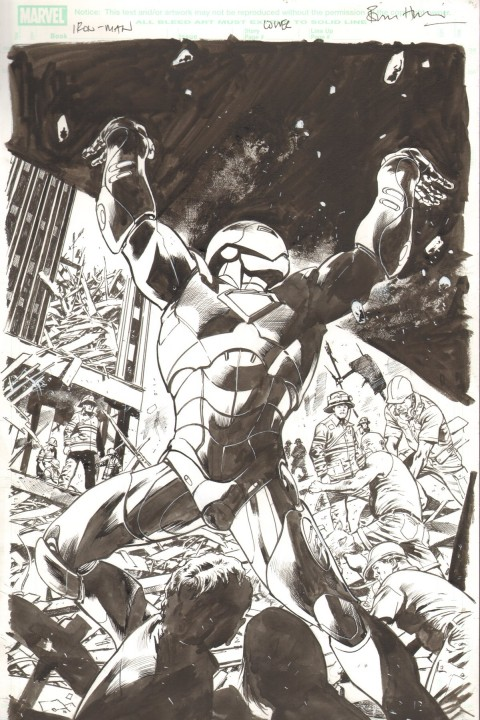 Invincible Iron-Man issue 7 variant cover by Bryan Hitch.  Source.