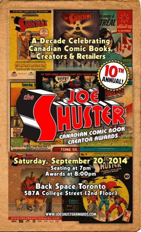 Joe Shuster Awards 2014 Poster
