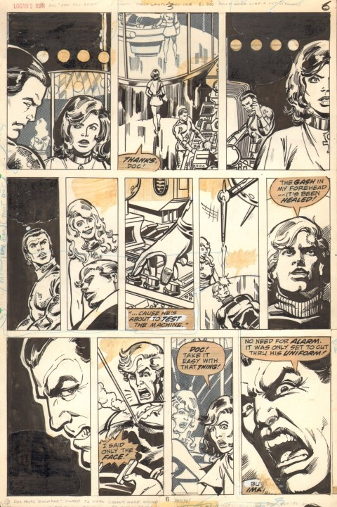 Logan's Run issue 2 page 6 by George Perez and Klaus Janson.  Source.