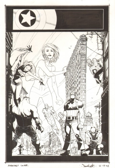 Marvel Adventures The Avengers issue 29 cover by Sean Murphy.  Source.