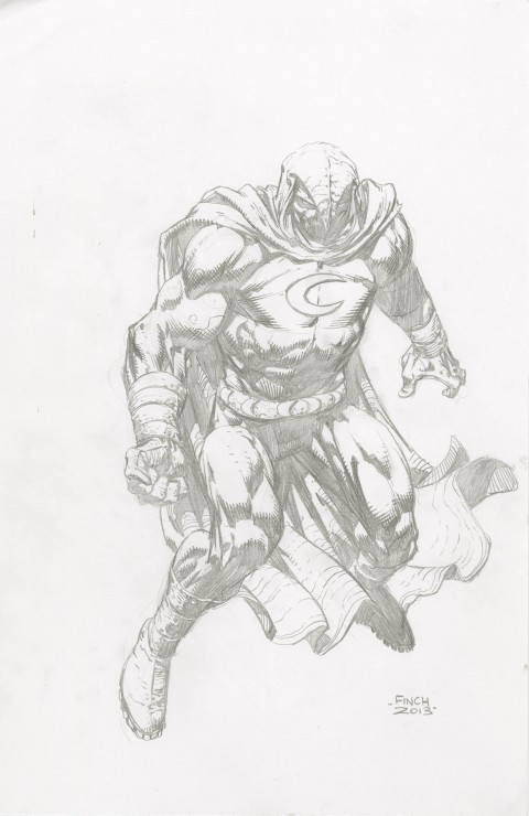 Moon Knight by David Finch.  Source.