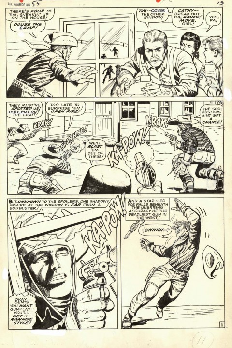 Rawhide Kid issue 55 page 11 by Larry Lieber and Vince Colletta.  Source.