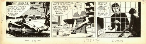Rip Kirby 10-26-1953 by Alex Raymond.  Source.