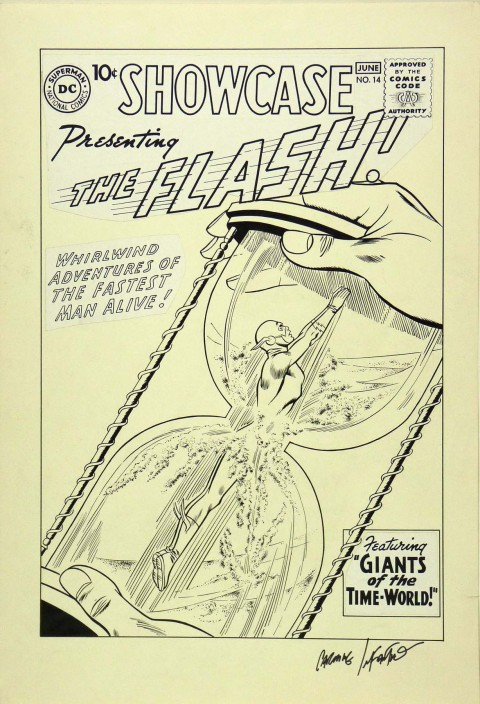 Showcase issue 14 cover recreation by Carmine Infantino.  Source.
