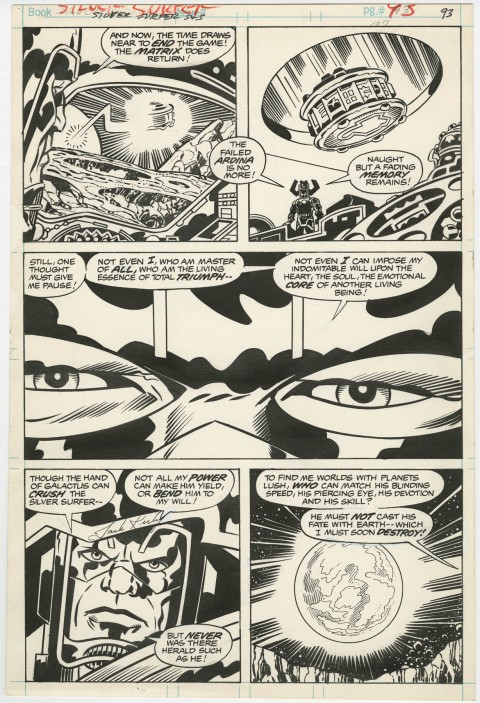 Silver Surfer Graphic Novel page 93 by Jack Kirby and Joe Sinnott.  Source.